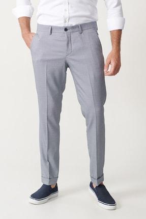Altınyıldız Classics Erkek Mavi Slim Fit Desenli Pantolon 1