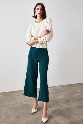 TRENDYOLMİLLA Zümrüt Yeşili Bol Paça Pantolon TWOSS20PL0090 1