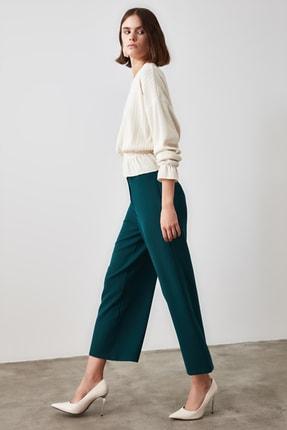 TRENDYOLMİLLA Zümrüt Yeşili Bol Paça Pantolon TWOSS20PL0090 3