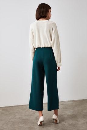 TRENDYOLMİLLA Zümrüt Yeşili Bol Paça Pantolon TWOSS20PL0090 4