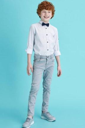 Defacto Erkek Çocuk Papyonlu Baskılı Pamuklu Uzun Kollu Gömlek 1