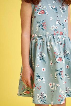 Defacto Kız Çocuk Çiçek Baskılı Kolsuz Elbise 2