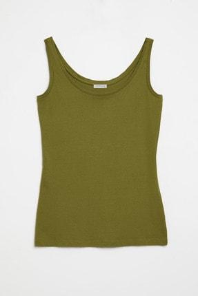 GRIMELANGE CLAIRE Kadın Yeşil Dar Kesim Kolsuz  T-Shirt 0