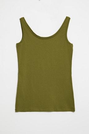 GRIMELANGE CLAIRE Kadın Yeşil Dar Kesim Kolsuz  T-Shirt 1