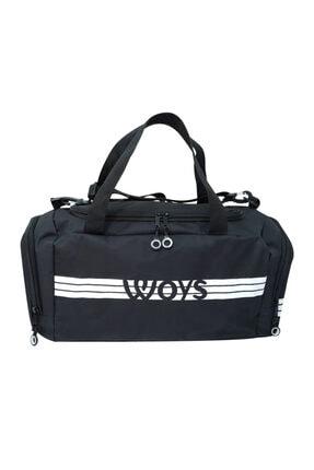 woys Unisex Siyah Bölmeli Sporcu Çantası 0