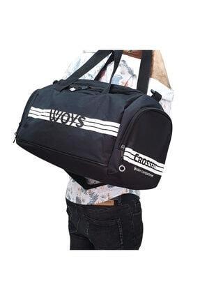 woys Unisex Siyah Bölmeli Sporcu Çantası 3