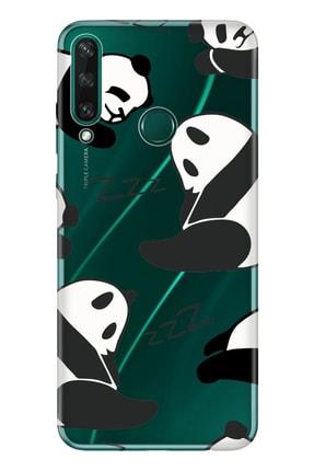 Cekuonline Huawei Y6p Kılıf Temalı Resimli Silikon Telefon Kapak  Pandalar 0