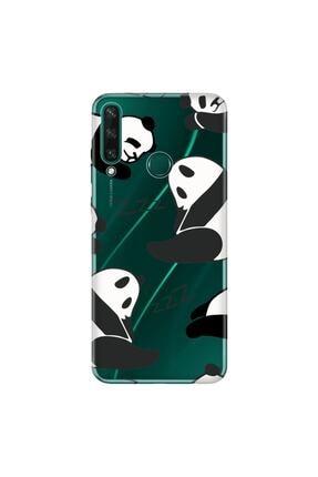 Cekuonline Huawei Y6p Kılıf Temalı Resimli Silikon Telefon Kapak  Pandalar 1