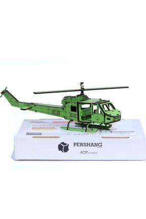 Pershang Puzzle 3d 74 Parça Yapboz Ahşap Helikopter 0
