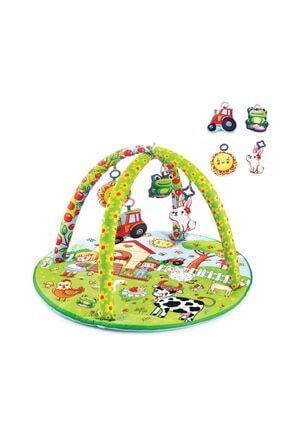 Babyjem Oyuncaklı Oyun Minderi Çiftlik Yuvarlak 506 0