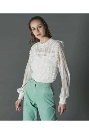 İpekyol Kadın Beyaz Dantel Bluz 1