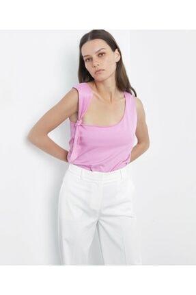 İpekyol Kadın Pembe Askı Detaylı Tshirt 0