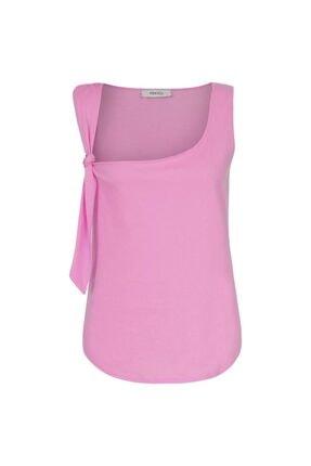 İpekyol Kadın Pembe Askı Detaylı Tshirt 4