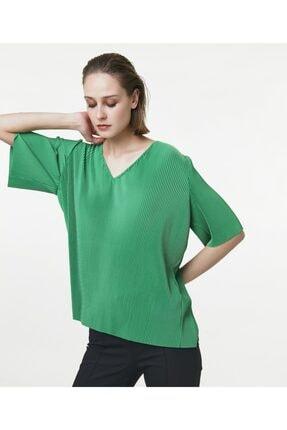 İpekyol Kadın Yeşil V Yaka Tshirt 0