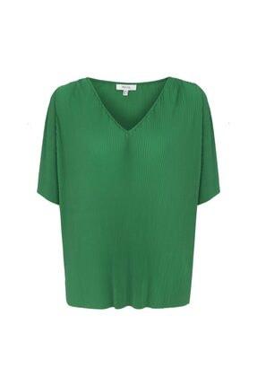 İpekyol Kadın Yeşil V Yaka Tshirt 4