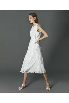 İpekyol Kadın Ekru Yıldız Desenli Elbise 3