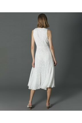 İpekyol Kadın Ekru Yıldız Desenli Elbise 4