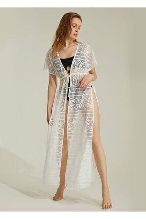 Suwen Kadın Ekru Sunrise Plaj Elbisesi 0