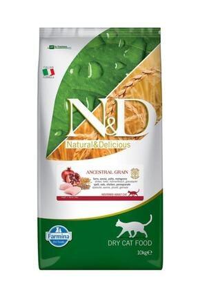 ND Tavuklu ve Narlı Düşük Tahıllı Kısırlaştırılmış Kedi Maması - 10 kg 0
