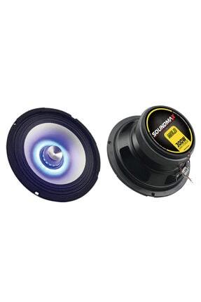 Soundmax Oto Midrange 300w 16cm 2 Adet Mavi Ledli Sx-m6ld 0