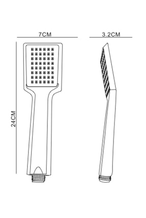 Ahlez Arya Duş Başlığı + Vera Pvc Duş Hortumu Duş Takımı 1