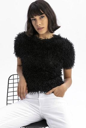 modavingo Kadın Siyah Püsküllü Bluz 0