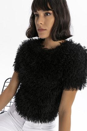 modavingo Kadın Siyah Püsküllü Bluz 2