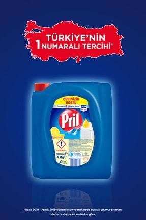 Pril Elde Yıkama Sıvı Bulaşık Deterjanı, Limon 4Kg 4'lü Paket 2