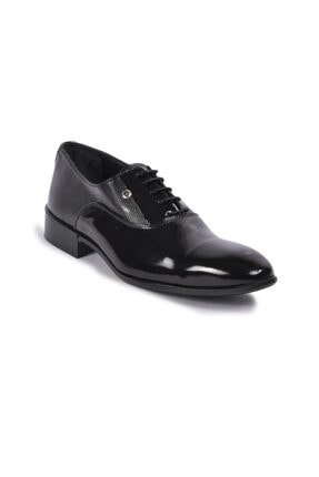 Picture of 00pc14 M.ayk Siyah Rugan Erkek Klasik Ayakkabı