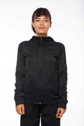Lotto Sweatshirt ;kadın ;siyah-fleece Sweat Fz Hd Pl W-r9642 1