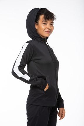 Lotto Sweatshirt ;kadın ;siyah-fleece Sweat Fz Hd Pl W-r9642 2
