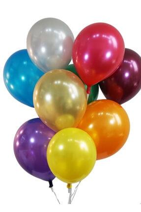 araget Metalik Latex Balon Gümüş Renk 10 Adet 1