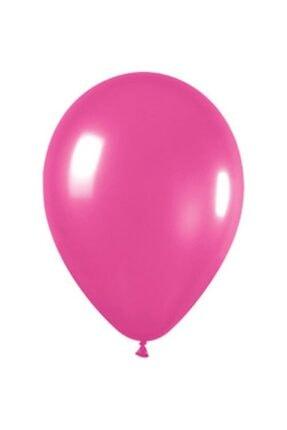 araget Metalik Latex Balon Fuşya Renk 10 Adet 0