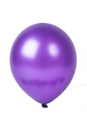 araget Metalik Latex Balon Mor Renk 10 Adet 0