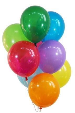 araget Metalik Latex Balon Mor Renk 10 Adet 1