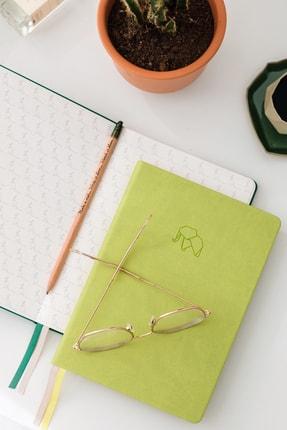 Matt Notebook A5 Antibakteriyel Defter Noktalı Açık Yeşil 1