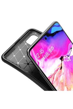 Cekuonline Huawei Mate 20 Lite Lacivert Karbon Stil Kılıf Ve Mermer Desen Popsocket 1