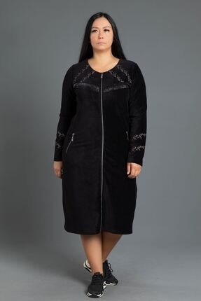 New Color Kısa Fitilli Kadife Elbise 0