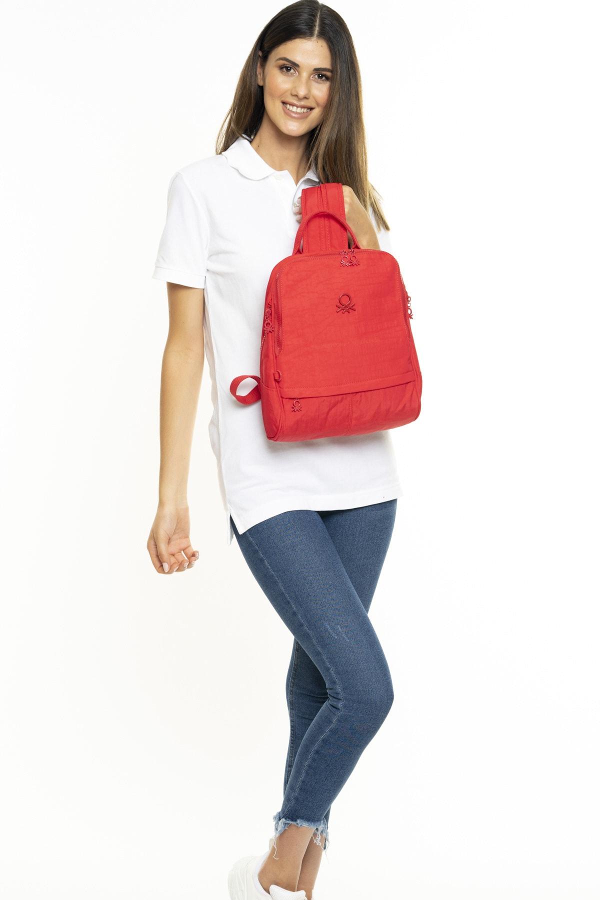 Kadın Sırt Çantası Kırmızı Bnt241