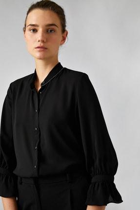 Koton Kadın Siyah Gömlek 0KAK68446PW 1