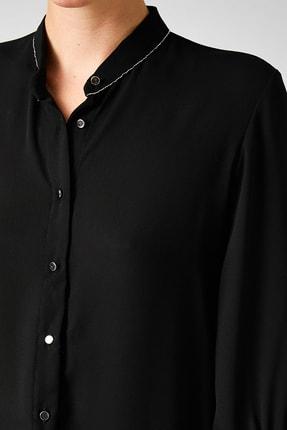 Koton Kadın Siyah Gömlek 0KAK68446PW 4