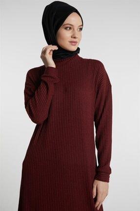 Tuğba Kadın Bordo Elbise 3