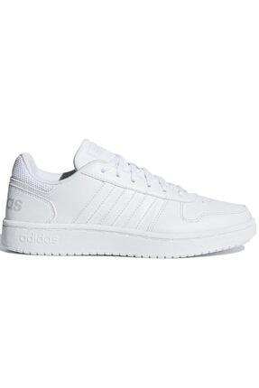adidas HOOPS 2.0 Beyaz Kadın Sneaker Ayakkabı 100402598 0