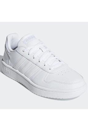 adidas HOOPS 2.0 Beyaz Kadın Sneaker Ayakkabı 100402598 2