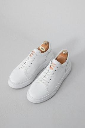 Lufian Tommy Deri Sneaker Beyaz 0