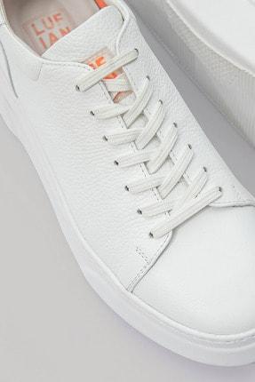 Lufian Tommy Deri Sneaker Beyaz 3