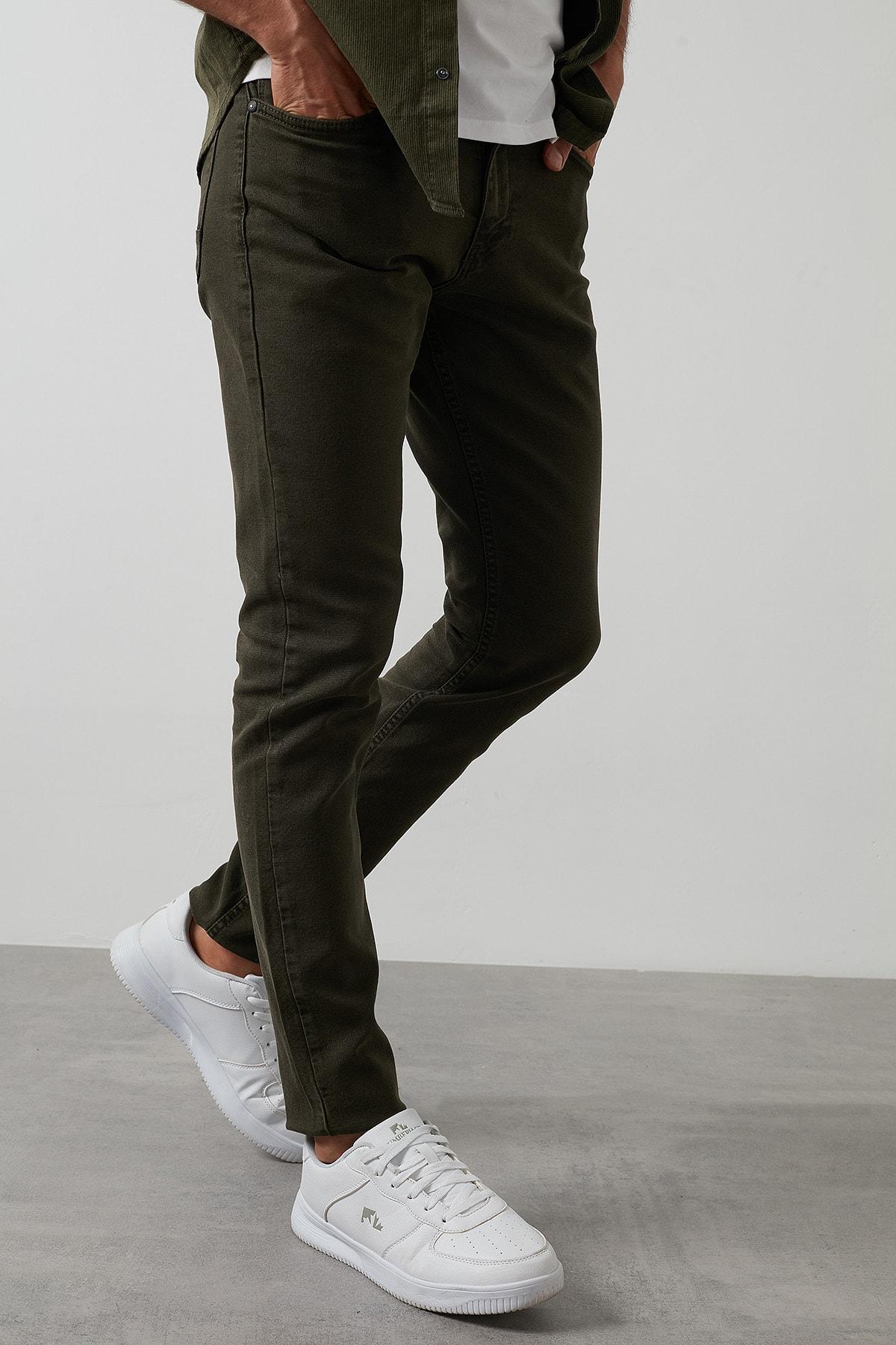 Buratti Erkek Haki 7267f4132zagor Regular Fit Pamuklu Jeans Kot Pantolon 2
