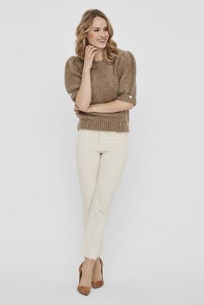 Vero Moda Kadın Bej Yarım Kol Taş Detaylı Kazak 10235781 VMDIANAJEWEL 2