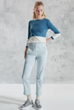 Yargıcı Kadın Bej Desenli Nervür Detaylı Pantolon 0KKPN3011X 1
