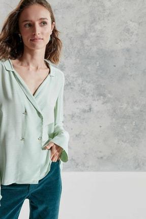 Yargıcı Kadın Mınt Kruvaze Gömlek 0KKGM6054X 1